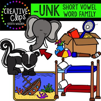 UNK Short U Word Family {Creative Clips Digital Clipart}