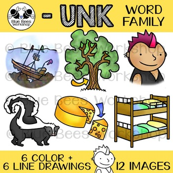 UNK Word Family Clip Art