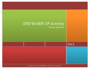 UNO Card Game Warm Up - Physical Fitness Activity