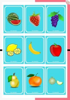 UNO DE LAS FRUTAS (The Fruits UNO playing cards)