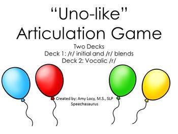 UNO LIKE ARTICULATION GAME /R/