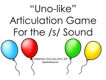 UNO LIKE ARTICULATION GAME /S/