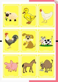 UNO LOS ANIMALES DE LA GRANJA (UNO playing cards for the animals in the farm)