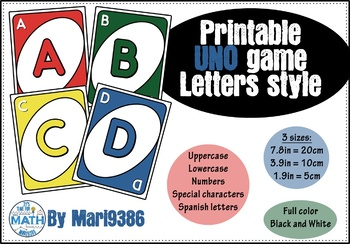 UNO Letters - for banners or bulletin boards