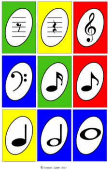 Music Notes and Rest Card Game
