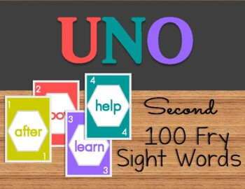 UNO Sight Word- Fry's Second 100 Words