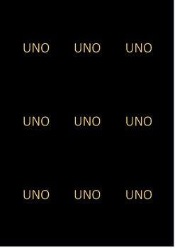 UNO Sight Words (Editable)