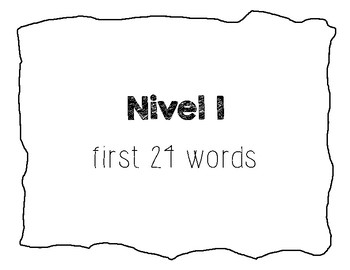 Spanish Sight Word UNO game: level 1-3