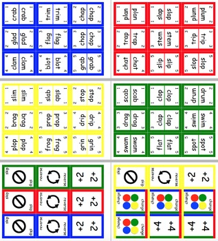 UNO Style CCVC Literacy Word Card Game
