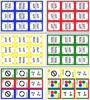 UNO Style CVCC Literacy Word Card Game