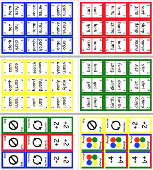 BULK - Contains 14 UNO Style Literacy Word Card Games