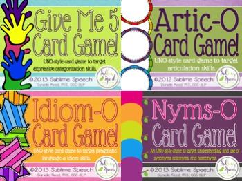 UNO-Style Speech & Language Games Mega Bundle
