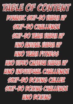 UNO and Skip Bo fitness activities