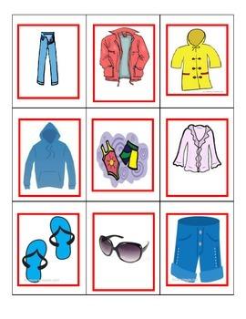 Spanish Game: Clothing/la ropa (ike UNO)