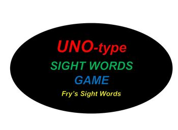 UNO-type Game for Fry's Sight Words (Group 6)