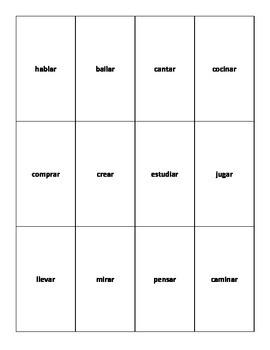 UNO-type Verb Game (presente con verbos -AR)