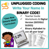UNPLUGGED CODING ACTIVITY- Write Your Name in Binary Code!