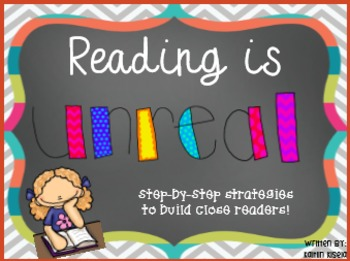 UNREAL Reading Strategy Bookmarks