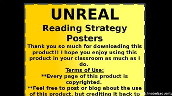 UNREAL Reading Strategy Posters