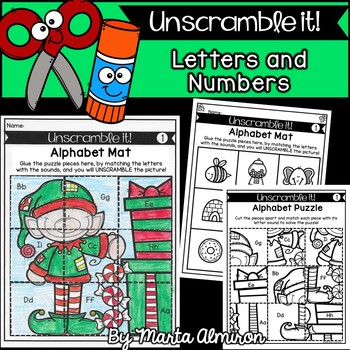 UNSCRAMBLE IT! {CHRISTMAS} {Letter Sounds and Numbers to 20}