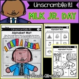 UNSCRAMBLE IT! {Martin Luther King Jr.} {Letter Sounds, CVC, and Numbers to 20}