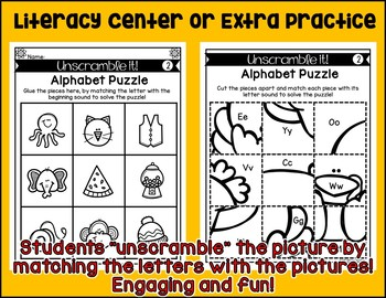 UNSCRAMBLE IT! {Thanksgiving} {Letter Sounds and Numbers to 20}