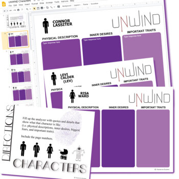 UNWIND Characters Organizer (Created for Digital)