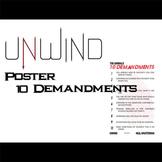 UNWIND Class Poster - 10 Demandments