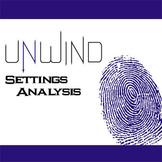 UNWIND Setting Graphic Organizer - Physical & Emotional (by Neal Shusterman)