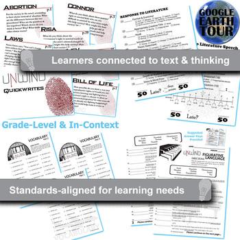 UNWIND Unit Novel Study (Neal Shusterman) - Literature Guide