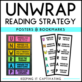Unwrap Reading Strategy Worksheets Teaching Resources TpT
