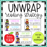 UNWRAP Reading Strategy Posters and Bookmarks