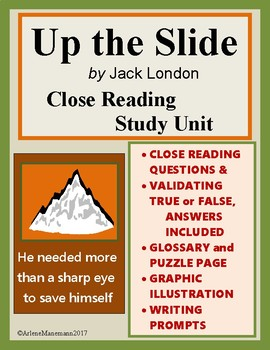UP THE SLIDE by Jack London - Close Reading Study Unit