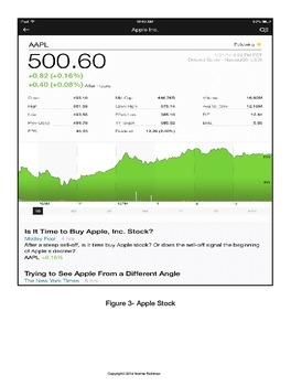 UPDATE: SUPPLEMENT WITH NEW APP TO BE USED WITH ORIGINAL iPAD STOCK MARKET UNIT