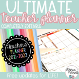 2018-2019 Editable Ultimate Teacher Planning Bundle
