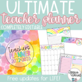 2017-2018 Editable Teacher Planning  Binder {Pastel Candy