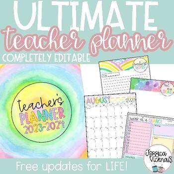 2016-2017 Editable Teacher Planning  Binder {Pastel Candy