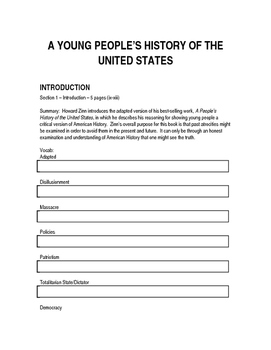 UPDATED A Young People's History of the United States Study Guide v2.0