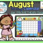 ACTIVBOARD Calendar Math- August (English)