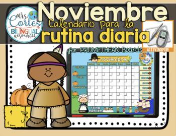 ACTIVBOARD Calendar Math- Noviembre (Spanish)