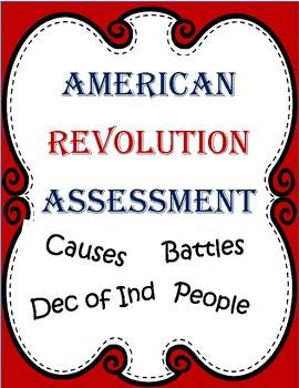 UPDATED American Revolution Assessment