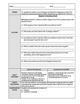 UPDATED Chains (Laurie Halse Anderson) Ch 25 Lesson, Exit Slip, & Classwork