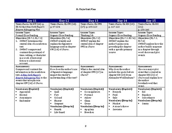 UPDATED Chains (Laurie Halse Anderson) Unit Plan w/ Goals, Standards, & Calendar