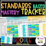 UPDATED - DIGITAL Standards Based Mastery Tracker - ANY Su