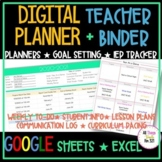 UPDATED - DIGITAL Teacher TRACKING Binder + PLANNER & EDITABLE!