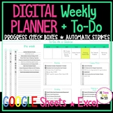 UPDATED DIGITAL Weekly Planner + To Do!
