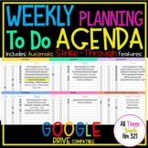 UPDATED DIGITAL Weekly Planning + To Do Agenda (Aug '20 -