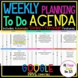 UPDATED DIGITAL Weekly Planning + To Do Agenda (Jul '21 -