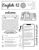 UPDATED! English Syllabus - Completely Editable in Google Slides