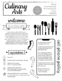 UPDATED! FCS Culinary Arts Syllabus - Completely Editable now in Google Slides